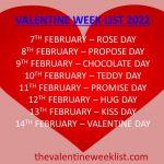 valentine week list 2022 seven days of love